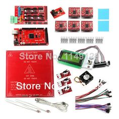 99.99$  Watch now - http://aliai6.worldwells.pw/go.php?t=2031755985 - New Geeetech RAMPS1.4+Mega R3+Heatbed MK2a+Pololu A4988 Stepper Driver+LCD2004 Display,thermistor...for 3D Printer Prusa Mendel 99.99$