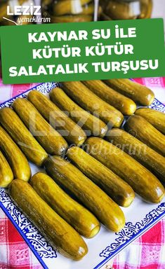 Turkish Recipes, Ethnic Recipes, Marinated Olives, Biscuit Cookies, Kombucha, Food Pictures, Pickles, Cucumber, Pasta