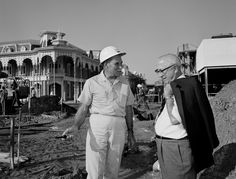 "Construction of Main Street Magic Kingdom spearheaded by Walt's brother, Roy Disney.   As Roy once put it, ""He did the dreaming, I did the building."""