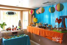 Hello Summer Surf Party via Kara's Party Ideas | KarasPartyIdeas.com #hello #summer #surf #beach #party #ideas (4)