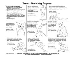 Stretching is important for all tennis players in order to avoid any serious injuries. As a coach, you must know which stretches are most effective for a player to do before and after playing. It is a coach's main responsibility to make sure their players do not get injured, and making sure they stretch is an important piece of the puzzle. http://www.lomesaenterprisesinc.com/wp-content/uploads/2013/02/TENNIS-STRETCHING.png