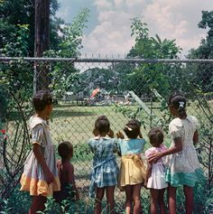 "Gordon Parks, 1956.   ""I wanted to go in, but my big sister said it was too dangerous. She said it was just for the white folks""."
