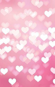 Bokeh hearts iphone wallpaper