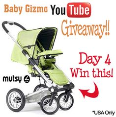 Baby Gizmo YouTube Giveaway Extravaganza Day 4 – Mutsy 4Rider  http://blog.babygizmo.com/2012/03/baby-gizmo-youtube-giveaway-extravaganza-day-4-mutsy-4rider/