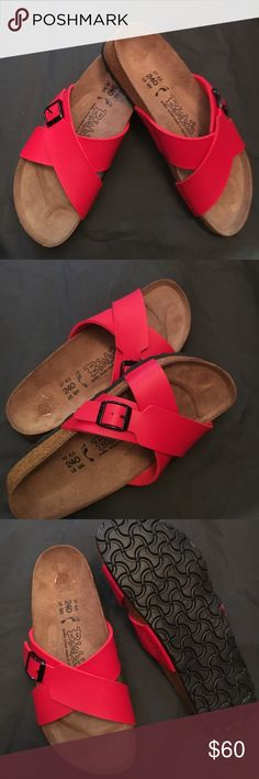 Birki'sred Sandle Birkis sandals Birkenstock Shoes Sandals