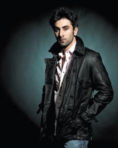 Ranbir Kapoor in Biker Jacket for HELLO!