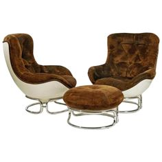 Three-Piece Modernist Suite by Airborne | From a unique collection of antique and modern lounge chairs at https://www.1stdibs.com/furniture/seating/lounge-chairs/