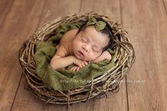 Ninho de cipó para fotografia newborn