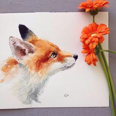 cmwatercolors @cmwatercolors Animals have been...Instagram photo | Websta (Webstagram)