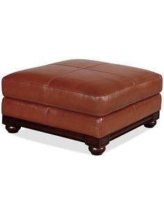 Tourino Leather Ottoman