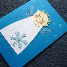 Také v obchode nekúpite: DIY najkrajšie vianočné pohľadnice do 30 minút Diy Christmas Cards, Christmas Crafts For Kids, Christmas Activities, Christmas Angels, Kids Christmas, Holiday Crafts, Christmas Decorations, Angel Crafts, Art For Kids