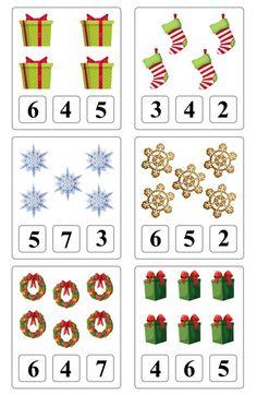 Φωτογραφίες στον τοίχο της ομάδας   VK Christmas Worksheets, Christmas Math, Christmas Activities For Kids, Preschool Christmas, Math For Kids, Noel Christmas, Winter Activities, Toddler Activities, Preschool Activities