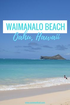Waimanalo Beach - a beautiful beach on the windward side of Oahu that offers beautiful turquoise waters, white sand and lots of sunshine! Beach Honeymoon Destinations, Hawaii Honeymoon, Hawaii Vacation, Beach Trip, Vacation Trips, Hawaii Wedding, Italy Vacation, Beach Travel, Luxury Travel