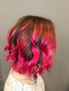 best hair color brand hair color ideas for brunettes - Hairs Bright Pink Hair, Bold Hair Color, Lilac Hair, Best Hair Color Brand, Hair Color Brands, Dip Dye Hair, Dyed Hair, Summer Hairstyles, Girl Hairstyles
