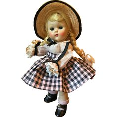 Vintage Vogue Strung Ginny Doll 1953 Tiny Miss Beryl Complete from my-vintage-memories on Ruby Lane