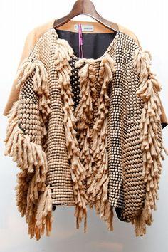 tricot pull frange