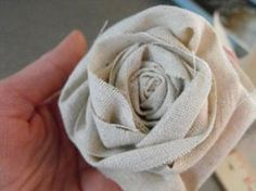 DIY fabric rosettes been dying to learn how to make these!