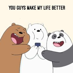 """8,071 Likes, 389 Comments - We Bare Bears (@webarebears.official) on Instagram: """"Tag 2 people who make your life so much better """""""