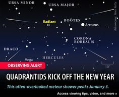 Quadrantid Meteor Shower 2013:  http://www.examiner.com/article/quadrantid-meteor-shower-peak-before-dawn-january-3rd