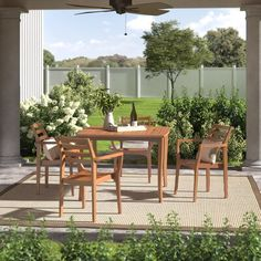 Patio Dining, Dining Chairs, Dining Table, 5 Piece Dining Set, Dining Room Sets, Dining Furniture, Outdoor Furniture Sets, Outdoor Decor, Solid Wood