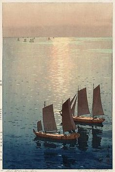 HIROSHI YOSHIDA-HIKARA UMI (the sparkling sea) fine arts POSTER 1926 24X36 Brand New. 24x36 inches. Will ship in a tube. - Multiple item purchases are combined the next day and get a discount for dome