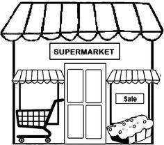 Coloring festival: Coloring pages grocery store Vegetable Coloring Pages, Food Coloring Pages, Printable Coloring Pages, Coloring Pages For Kids, Coloring Books, Kids Coloring, Kids Grocery Store, Boutique Store Displays, Cardboard City