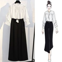 Women's Clothing on The First Day Of Spring Korea Fashion, Asian Fashion, Hijab Fashion, Fashion Art, Fashion Dresses, Fashion Clothes, Outfit Essentials, Fashion Design Drawings, Fashion Sketches