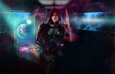 Rogue Commander Shepard (by Anabel Martinez) #MassEffect #FemShep #Shepard