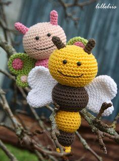 Bug Rattles amigurumi crochet pattern by lilleliis