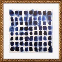 Indigo Blocks Framed Print, Artfully Walls | Joss & Main