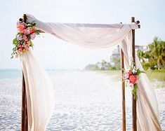 This is the primary example of what we want for the wedding arch. From: simple beach wedding arch Beach Ceremony, Ceremony Arch, Wedding Ceremony, Wedding Venues, Wedding Themes, Wedding Table, Wedding News, Wedding Dresses, Beach Wedding Reception