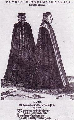 Nurnberger Patrizen mit Husecke und Barret by Jost Amman, 1577