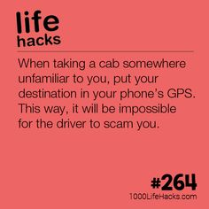 Never Get Scammed By a Cab Driver Again | 1000 Life Hacks | Bloglovin'