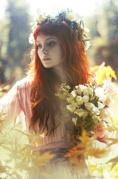❀ Flower Maiden Fantasy ❀ beautiful photography of women and flowers -