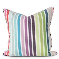 Rainbow Stripe Pillow - Furbish Studio