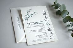 Eucalyptus wedding invitation | Elegante Press