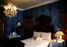 victorian blue bedroom - Google Search