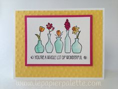 Stampin Up, Vivid Vases Stamp,  card by LePapierPalette