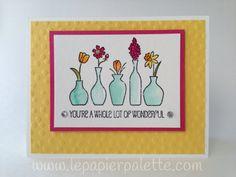 Stampin Up, Vivid Vases Stamp,  card by LePapierPalette