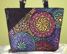 In last week's tutorial, I told you about my process for creating overlapping rubbings from the new Kaleidoscope plates. (Click here to read that article if you missed it.) This week, I am happy to show you my beautiful new handbag. I love making handbags from fabric I create. They are one-of-a-kind bags that do …