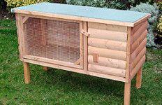 10 Free Rabbit Hutch Building Plans #DIY #Homemade #Backyard