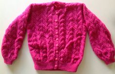 Child's Lacy Pattern Cardigan Handmade Knitted on Etsy, $20.00 AUD