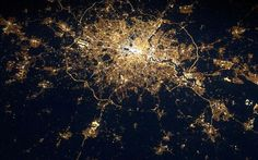 Taken by European Space Agency astronaut Andre Kuipers, whilst orbiting the Earth at 17,500 mph on the International Space Station, it shows our capital as an almost living organism.