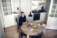 Image for Home Tour with Signe Birkving Bertelsen in Copenhagen Copenhagen, House Tours, Beautiful Homes, Conference Room, Studio, Paper News, Table, Inspiration, Furniture