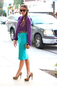 Jewel-Toned Colorblocking | What Courtney Wore