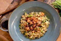 Skillet Fried Rice with Yum Yum-Popcorn Shrimp | Flip My Food