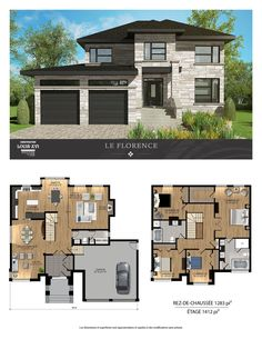 Nice Plan Maison Design Etage that you must know, You?re in good company if you?re looking for Plan Maison Design Etage Sims House Plans, House Layout Plans, Dream House Plans, House Layouts, Contemporary House Plans, Modern House Plans, Modern House Design, Contemporary Style, Casas The Sims 4