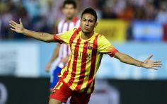 Neymar, goal, footballers, Neymar Jr, FC Barcelona, football stars