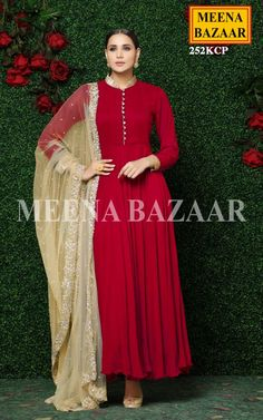 Dress Indian Style, Indian Dresses, Indian Outfits, Anarkali Dress, Anarkali Suits, Red Salwar Suit, Sharara Suit, Designer Sarees Online Shopping, Online Shopping Clothes