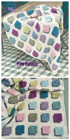 Baby Knitting Patterns Blanket Double A Design Granny Square Blanket Crochet Free Pattern Granny Square Pattern Free, Granny Square Blanket, Granny Square Crochet Pattern, Crochet Squares, Crochet Granny, Crochet Blanket Patterns, Baby Knitting Patterns, Free Crochet, Free Pattern